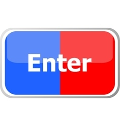 enter word on web button icon isolated on vector image vector image