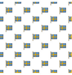 Flag of sweden pattern seamless vector