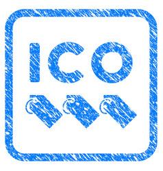 Ico tokens framed stamp vector