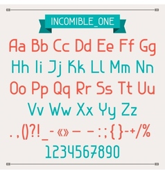Incomible one classic style font vector image