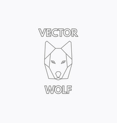 Linear wolf symbol vector