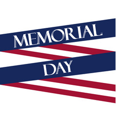 Memorial day american flag ribbon polygonal vector