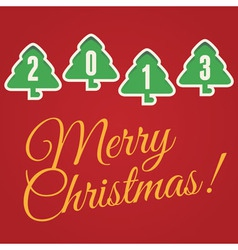 merry christmas 1 vector image