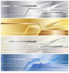 Metallic banner vector
