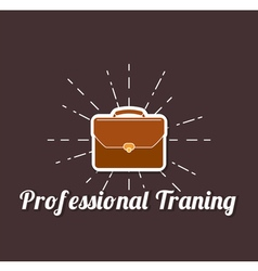 Professional traning briefcase briefcase business vector