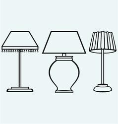 Reading-lamp vector