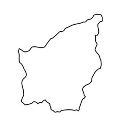 San marino map of black contour curves of vector