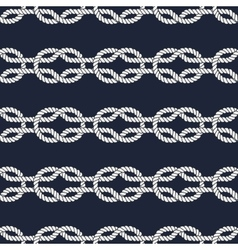 Seamless nautical rope pattern - square knots vector