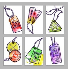 Tag Banner Set vector image