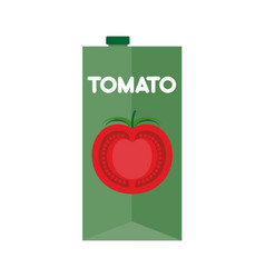 tomato juice package isolated cardboard box for vector image vector image