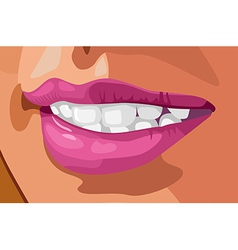tooth and lips vector image vector image