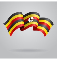 Ugandan waving Flag vector image vector image