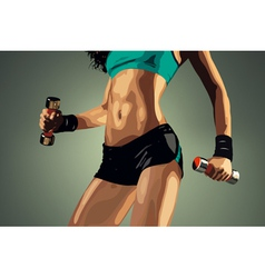 Young fitness woman vector