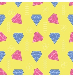 Colorful gemstone pattern vector image