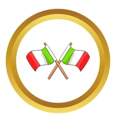 Italy crossed flags icon vector