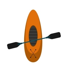 Kayaking board oar recreation camping vector