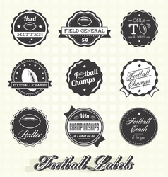 Football champion labels and icons vector