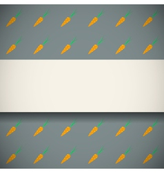 Pattern with cute carrots vector