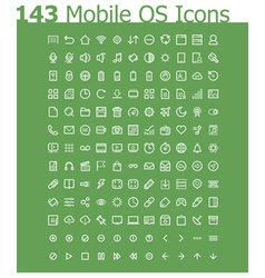 Operating system icon set vector image