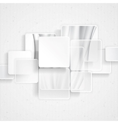 White square element on stripes background vector