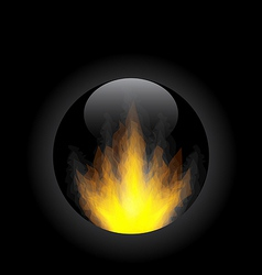 Fire flame in circle frame vector