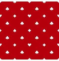 Poker red seamless pattern vector