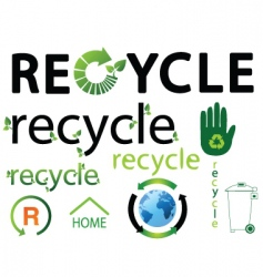 recycle logos vector image