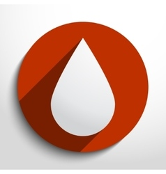 Water drop glass icon vector