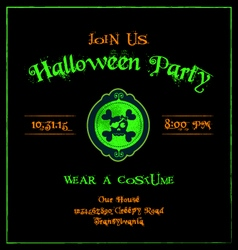 Halloween invitation cameo skulls template vector