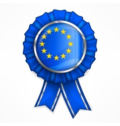 European award ribbon vector