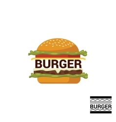Burger shop icon logo design vector