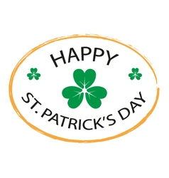 Happy st patricks day stamp style 2 vector