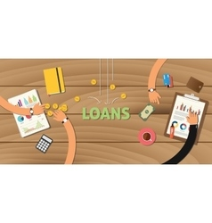 Loan finance application analyze data business vector