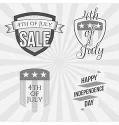Independence day 4th of july labels collection vector