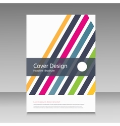 Abstract straight lines cover brochure vector