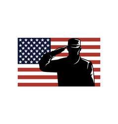 American Solder Serviceman Saluting vector image