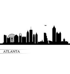 Atlanta city skyline silhouette background vector