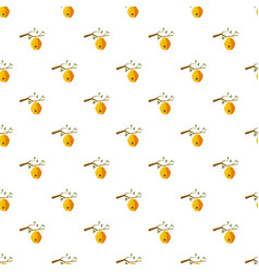 Beehive on tree pattern vector
