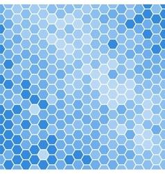blue hexagons background vector image