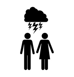 Cloud with storm icon image vector