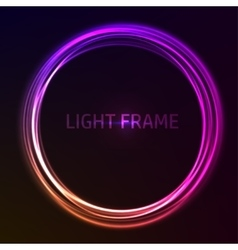 Colorful glowing frame vector