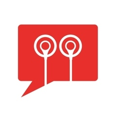 earphones audio device icon vector image