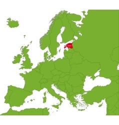 Estonia map vector image vector image