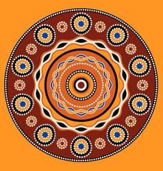 ethnic circle background design australian vector image vector image