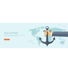 Flat backgrounds Travel and vector image