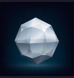glass crystal vector image