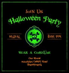 Halloween invitation cameo skulls template vector