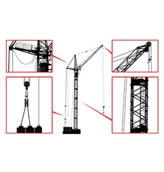 High detailed hoisting crane vector image