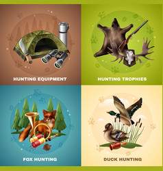 hunting design concept vector image vector image