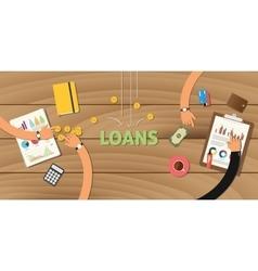 Loan finance application analyze data business vector